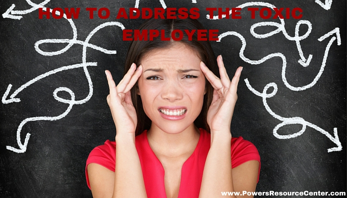 graphic that says how to address the toxic employee