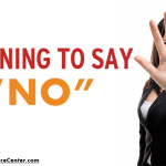 graphic that says learning to say no