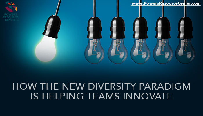 light bulbs with the caption how new diversity paradigm helps teams innovate