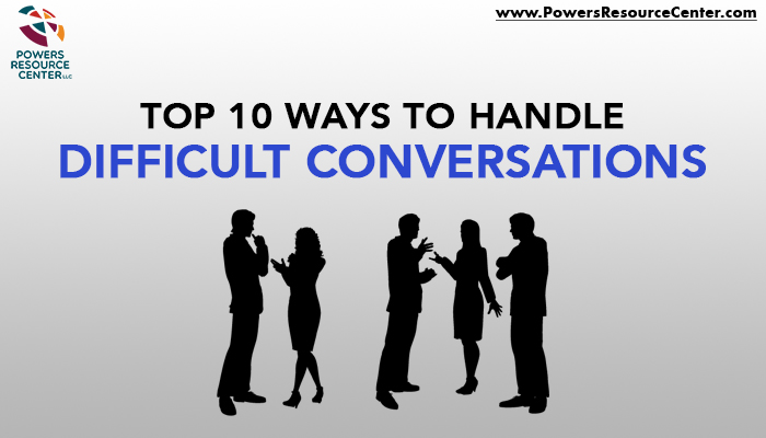 graphic that says top 10 ways to handle difficult conversations
