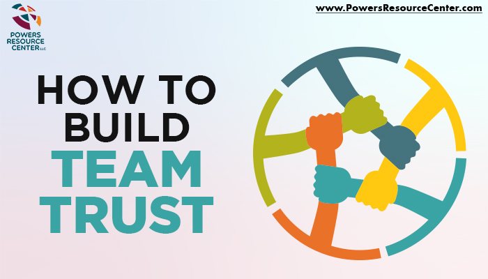graphic that says how to build team trust