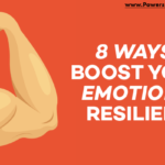 graphic that says 8 ways to boost your emotional resilience