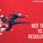 graphic that says not too late to be resolutionary - setting SMART goals