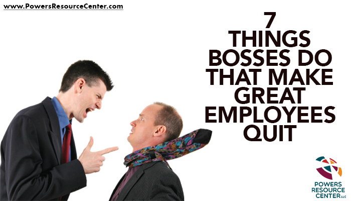 an employee being yelled at by a boss to depict why good employees quit
