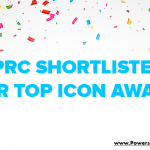 graphic that says PRC shortlisted for top icon award